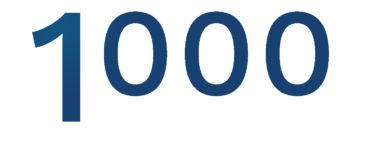 1000 installations